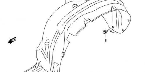 Suzuki SX4 - Dobbetét bal /Gyári/ Bal első kerékjárati dobbetét, műanyag Eredeti Suzuki alkatrész: 72322-79J00 7900Ft